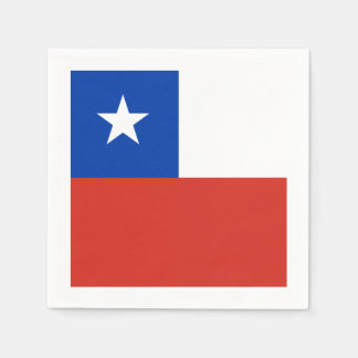 Flag: Chile Disposable Serviettes
