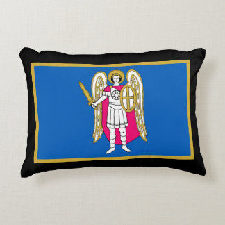 Flag / Coat of Arms of Kiev, Ukraine Saint Michael Accent Cushion