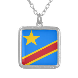 flag_congo.ai silver plated necklace