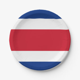 Flag: Costa Rica 7 Inch Paper Plate