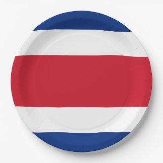 Flag: Costa Rica 9 Inch Paper Plate