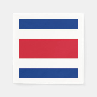Flag: Costa Rica Disposable Serviette