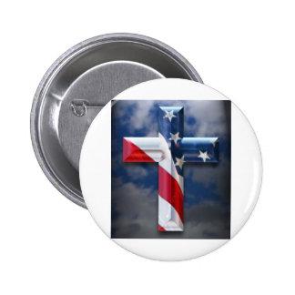 Flag Cross Pin