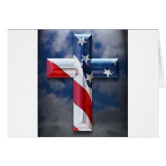 Flag Cross Greeting Card
