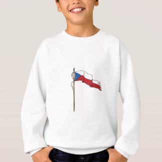 Flag Czech Republic Torn Ripped Retro Sweatshirt