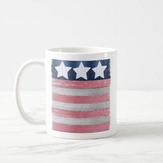 Flag design mug using rustic wood photos