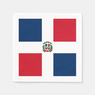 Flag: Dominican Republic Disposable Serviette