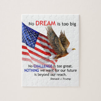 Flag & Eagle Donald J Trump Quote Jigsaw Puzzle