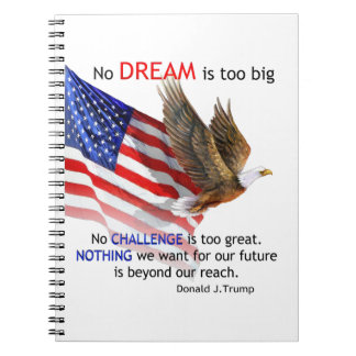 Flag & Eagle Donald J Trump Quote Notebooks