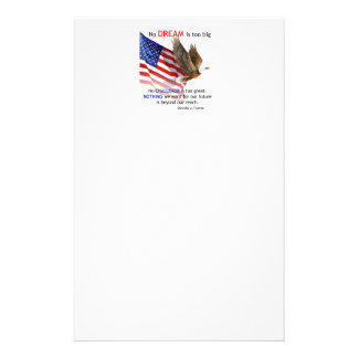 Flag & Eagle Donald J Trump Quote Stationery