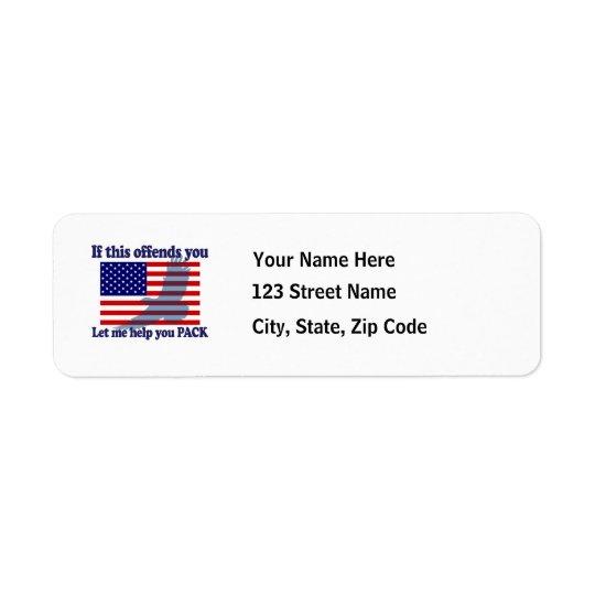 Flag & Eagle Patriot Return Address Label