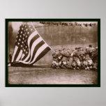Flag Ebbets Park Baseball 1914 Posters