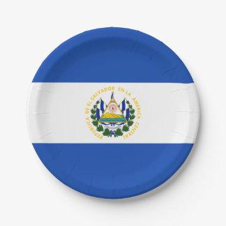 Flag: El Salvador 7 Inch Paper Plate