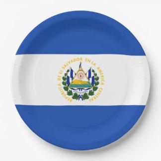 Flag: El Salvador 9 Inch Paper Plate