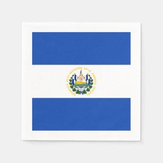 Flag: El Salvador Disposable Serviettes