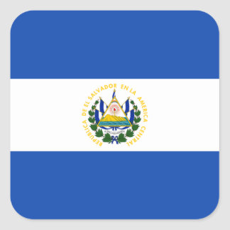 Flag: El Salvador Square Sticker