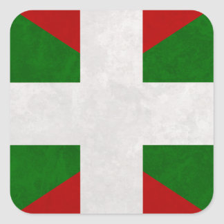 Flag Euskadi Pays Basque Square Sticker