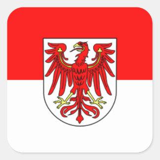 Flag - Fahne - Flagge - Germany - Brandenburg Square Sticker