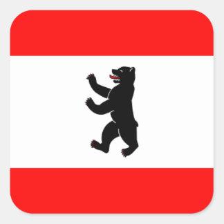 Flag Flagge Fahne Berlin Germany Square Sticker