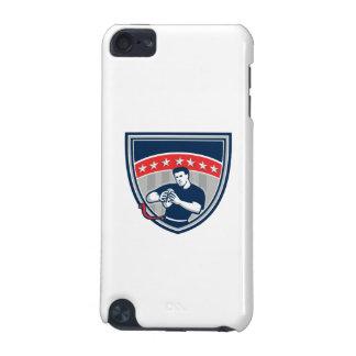 Flag Football QB Player Running Stars Crest Retro iPod Touch 5G Cases