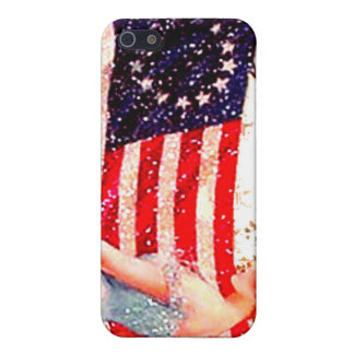 Flag Gibson Girl Vintage 4th of July Postcard Art Cover For iPhone 5