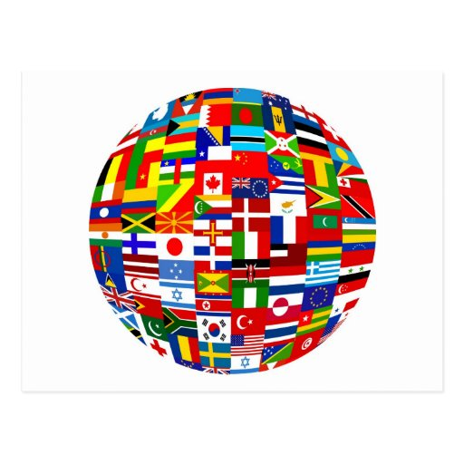 Flag Globe Postcard