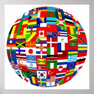 Flag Globe Print