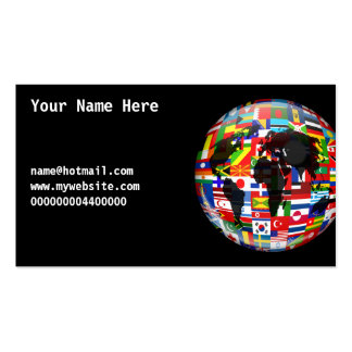 Flag Globe, Your Name Here, Business Card Templates