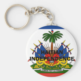 flag-Haiti-detail-lg, HAITIAN INDEPENDENCE Basic Round Button Key Ring