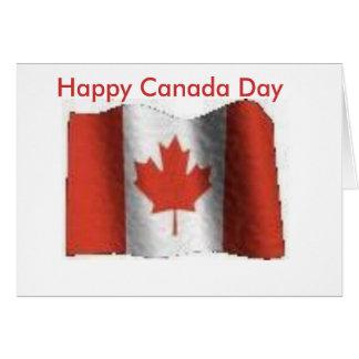 flag, Happy Canada Day Card