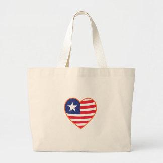 Flag Heart Jumbo Tote Bag