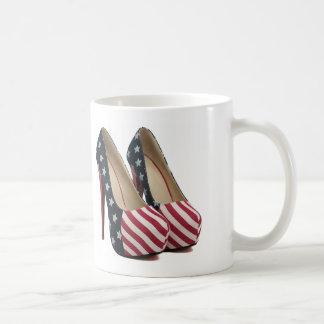FLAG HIGH HEEL SHOES COFFEE MUG