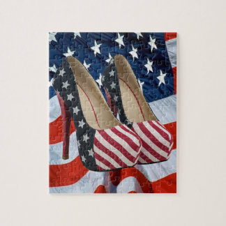 FLAG HIGH HEEL SHOES JIGSAW PUZZLES