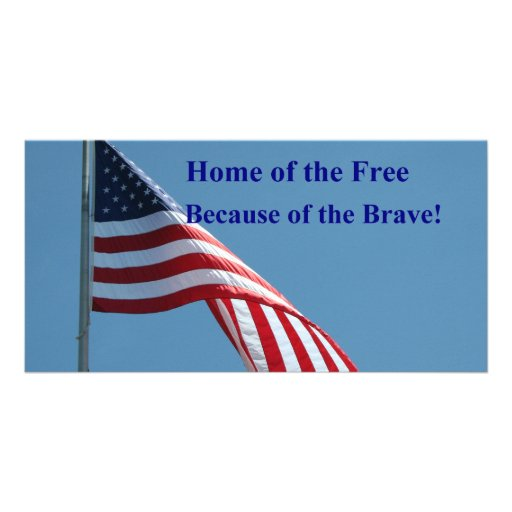 Flag, Home of the Free! Photo Card Template
