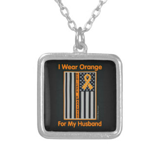 Flag/Husband...RSD/CRPS Silver Plated Necklace