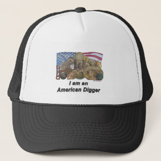 Flag I am an American Digger Trucker Hat