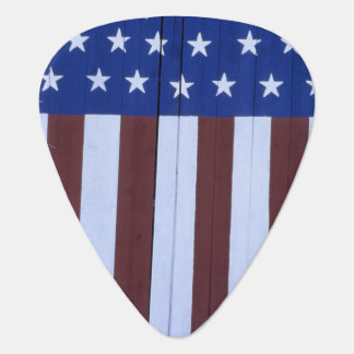 Flag in heart shape painted on barn after 9-11. guitar pick