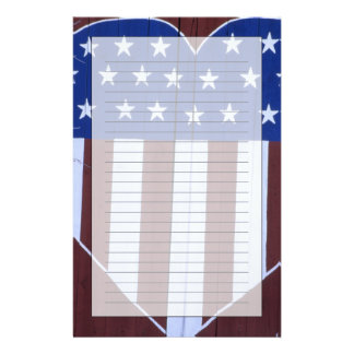 Flag in heart shape painted on barn after 9-11. stationery