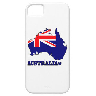 Flag in Map of Australia iPhone 5 Cover