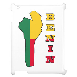 Flag in Map of Benin iPad Cover