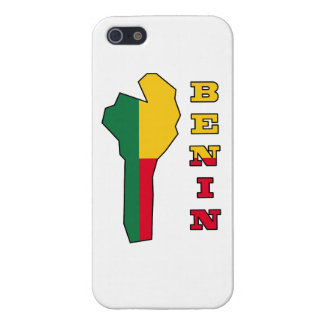 Flag in Map of Benin iPhone 5 Cover