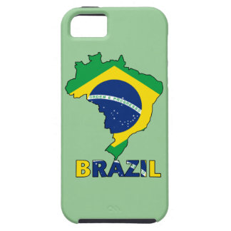 Flag in Map of Brazil iPhone 5 Cover