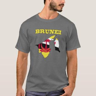 Flag in Map of Brunei T-Shirt