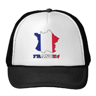 Flag in Map of France Mesh Hats