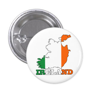 Flag in Map of Ireland 3 Cm Round Badge