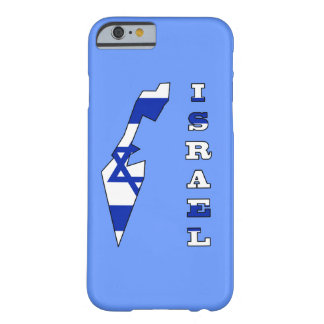 Flag in Map of Israel Barely There iPhone 6 Case