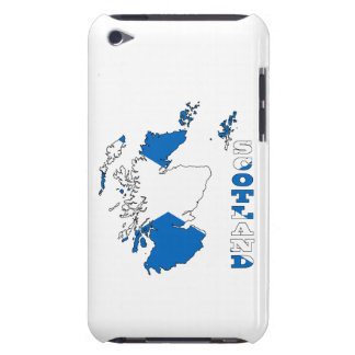Flag in Map of Scotland iPod Touch Cases