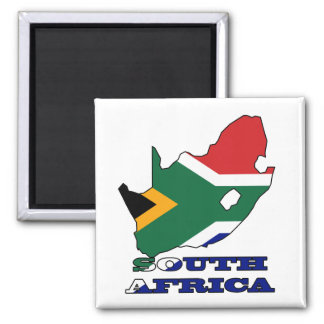 Flag in Map of South Africa Magnet