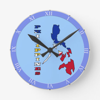 Flag in Map of the Philippines Round Clock