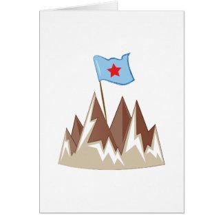 Flag In Mountain Card